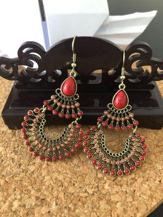 Boucles Earrings Ohrringe Pendientes Vintage