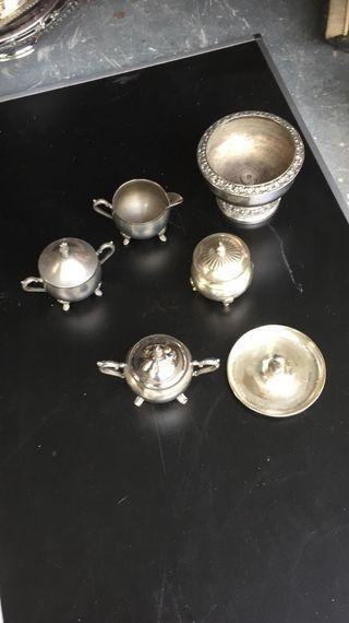 lote de adornos en plata