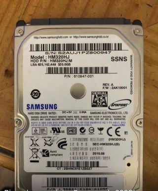 Disco duro mecánico Samsung de 320 go 15€