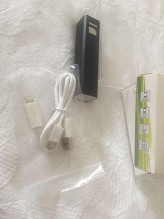 Batería portátil con adaptador iPhone y android