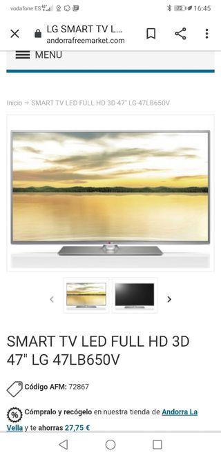 tv smart TV LG 47 pulgadas