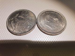 Monedas antiguas 50 pesetas