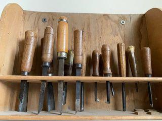 Juego herramienta antiguas con soporte