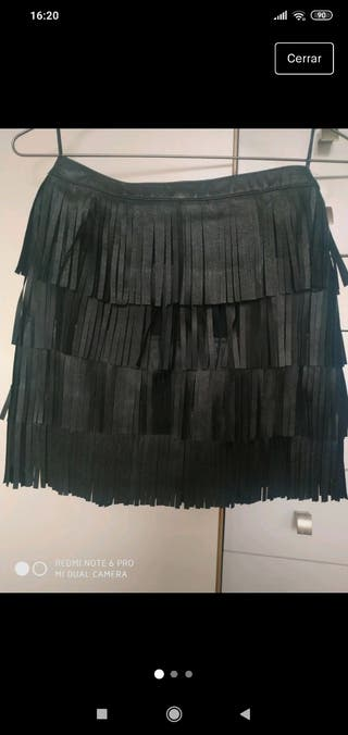 Mini falda piel