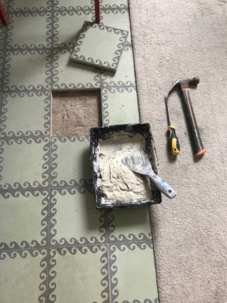 Reparación de suelo hidráulico