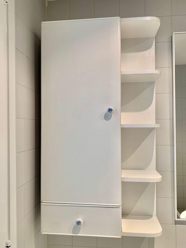 Mueble de baño blanco chapa de segunda mano por 15 € en ...