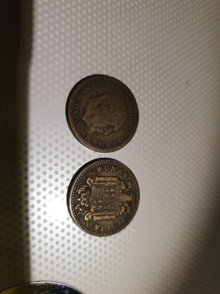 Moneda antigua 1 peseta