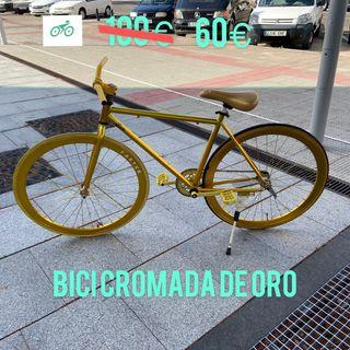 """¡¡URGENTEMENTE!! Bici Cromada Oro 26"""" Pulgadas"""