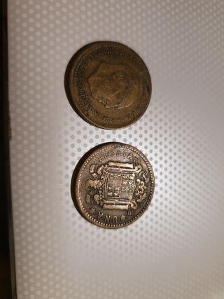 Monedas antiguas 1 peseta.