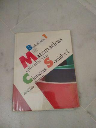 Libro Matemáticas 1º Bachillerato(Ciencias Sociale