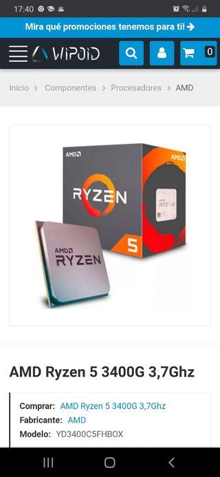 AMD Ryzen 3400 g