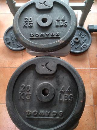 Pesas 20 kg x 2