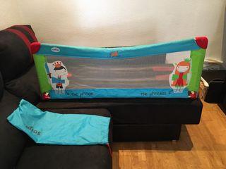 Barrera para cama de niños plegable