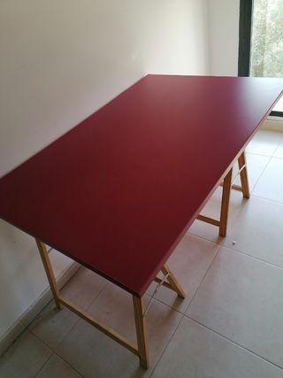 tablero con pies para mesa de estudio