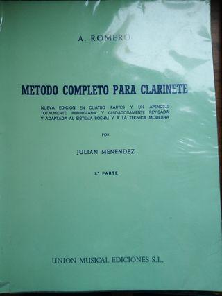 Método y libros de clarinete