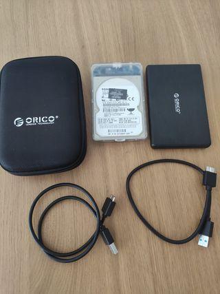 2 Disco duros portátil 500GB + 500 GB