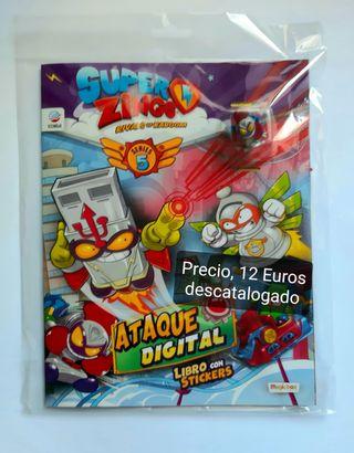 SuperZings, Libro de pegatinas + figura plata