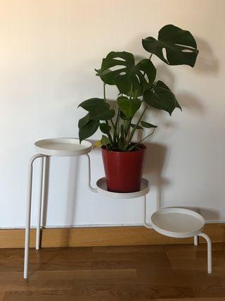 Macetero soporte tres macetas IKEA