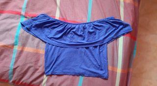 Camiseta/top azul electrico