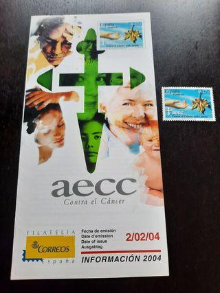 Sello 2004 Asociación Española Contra el Cáncer