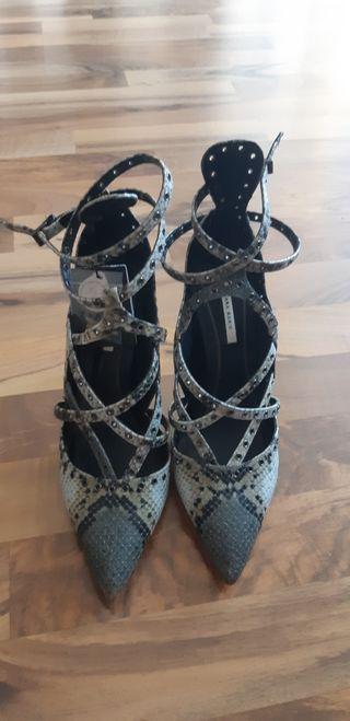 zapato tacón zara talla 37