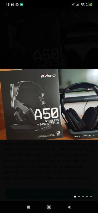 CASCOS ASTRO A50 7.1 PS4/PC/MAC