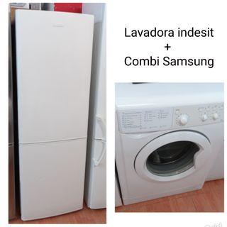 Lavadora Indesit+Combi Samsung con garantía