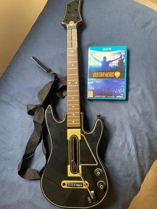 Juego guitar hero + guitarra WII U