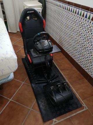 Volante Logitech G29 y Playseat Corsa
