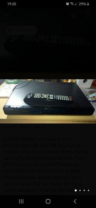 DVD Samsung Grabador con disco duro 160 GB