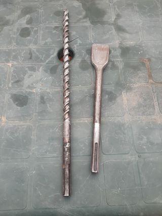 broca bosch 20 mm y puntero cincel