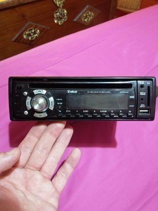 radio de coche para CD, tarjeta SD, USB y aux