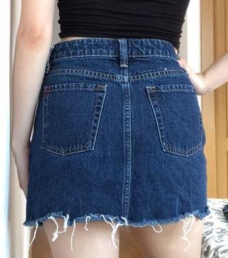 Falda de mezclilla