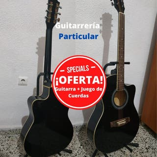 Guitarra Acústica CutAway + Juego de Cuerdas