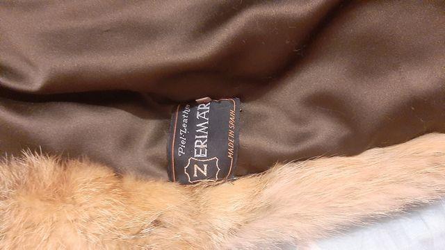 Abrigo de piel de zorro