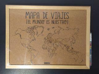 Corcho de Mapa de Viajes NUEVO