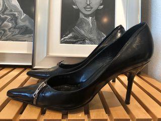 Zapato Tacón Piel Cremallera