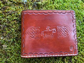 Cartera cuero marrón vaquero