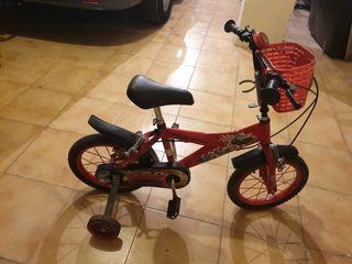bicicleta pequeña Mcqueen