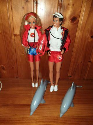 lote Barbie y ken baywatch