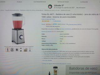 Batidora tristar 1000w NUEVA!
