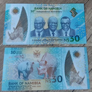 Billete 30 dólares de Namibia
