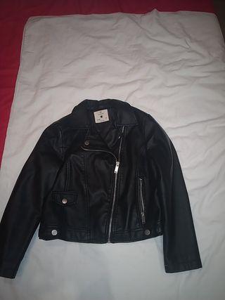 chaqueta piel negro