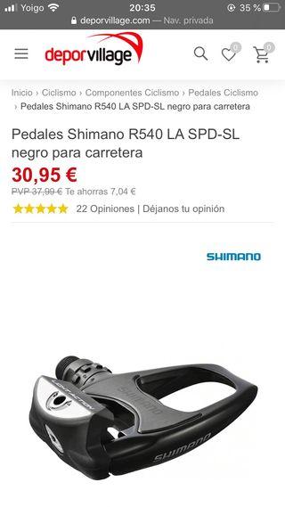 Pedales + calas Shimano R540 LA SPD-SL
