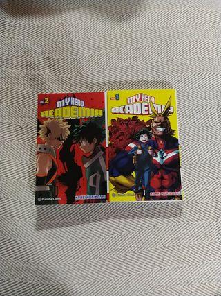 pack comics my hero academia 1 y 2