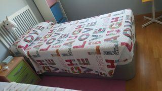 Cama 90 cm + colchón + cabecero