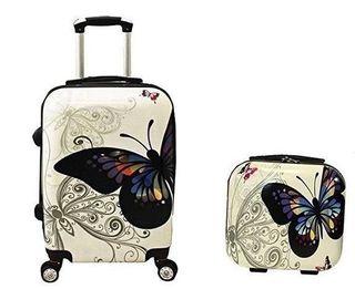 Maleta de Cabina + Neceser mariposa Colores