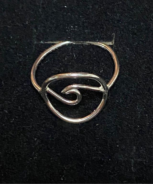 Anillo ola ( sol y mar ) en plata de ley 925