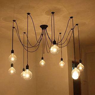 Lámpara techo colgante 10 BRAZOS metal E27 moderno