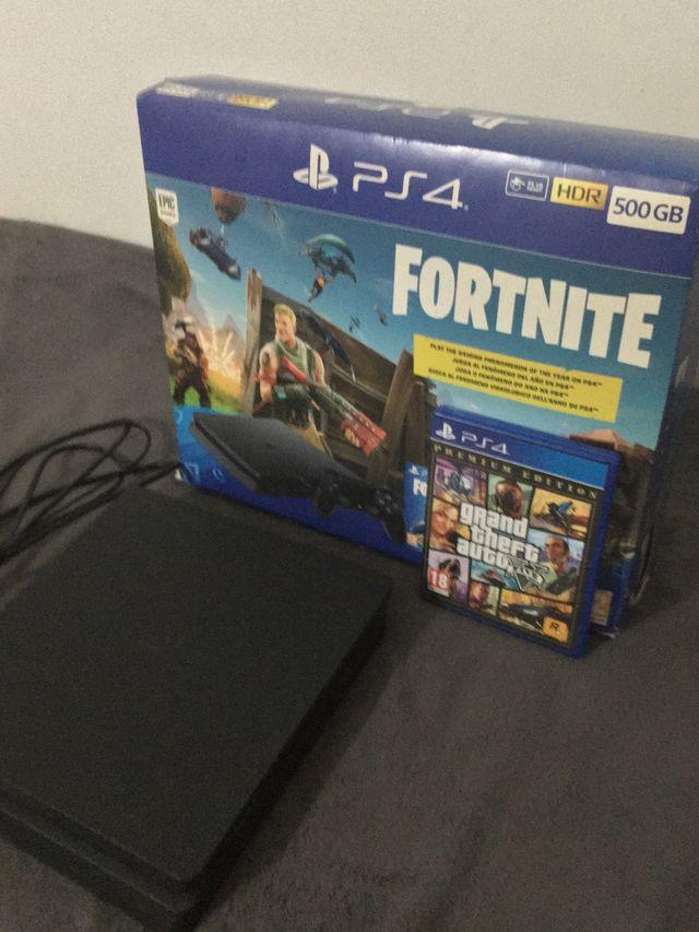 Ps4 slime 500GB edición Fortnite GTA V INCLUIDO
